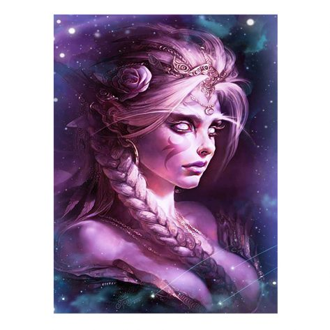 30-40 Fantasy Figure Painting Art Starry Sky