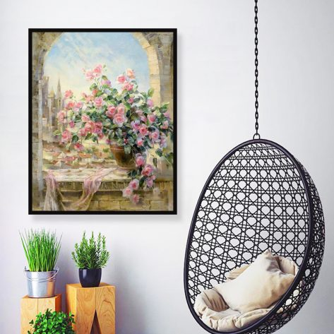 30-40 Scene Pink Flowers Symbol Of Beauty
