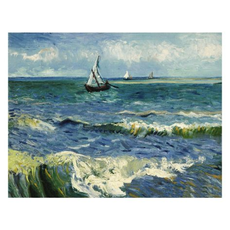 40-30-scene Seascape Painting Sailboat