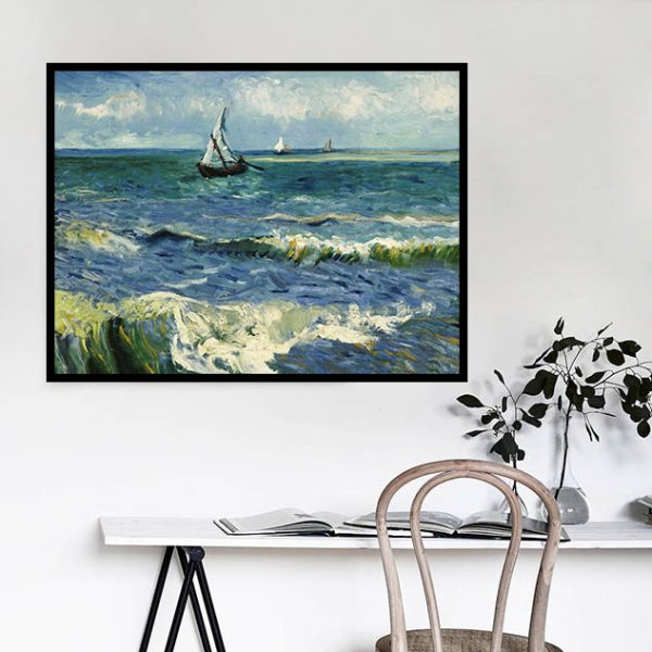 40-30-scene Seascape Painting Sailboat