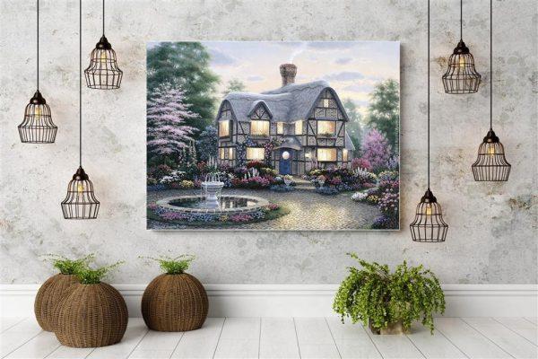 60-50-scene Garden Villa Beautiful And Bright