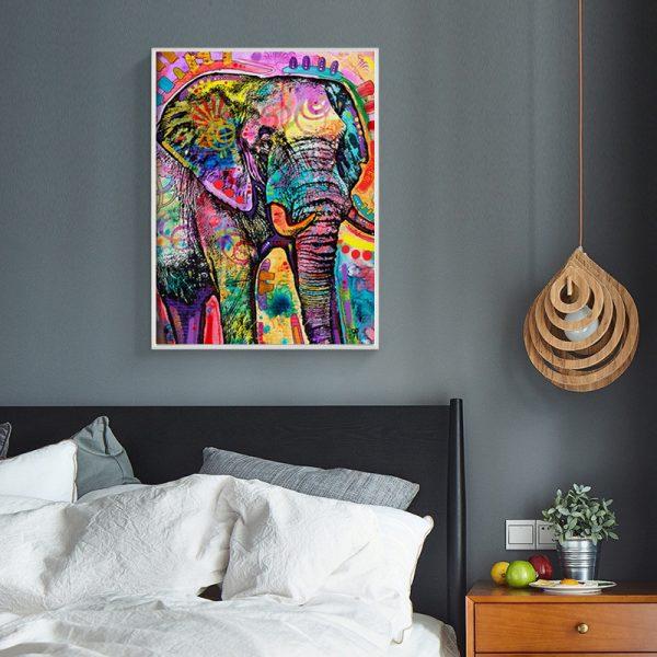 Animal Lovely Graffiti Elephant Colorful