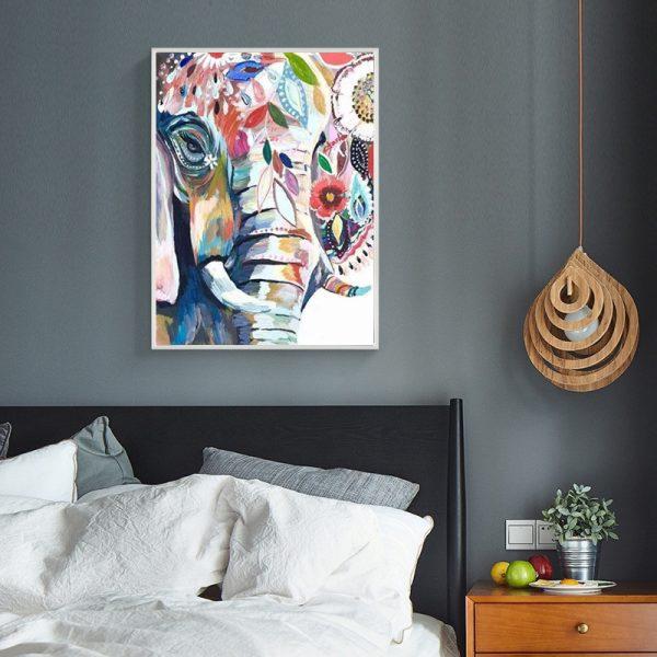Animal Beautiful Elephant Colorful Painting