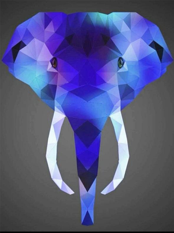 Animal Blue Lovely Elephant Artistic