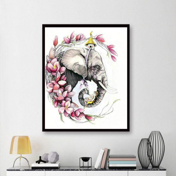 Anima Elefante And Flower Pretty Girl