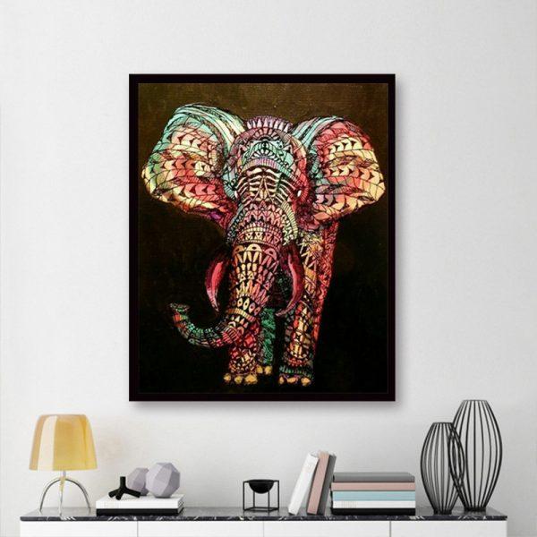 Animal Coloring Light Pretty Elephant