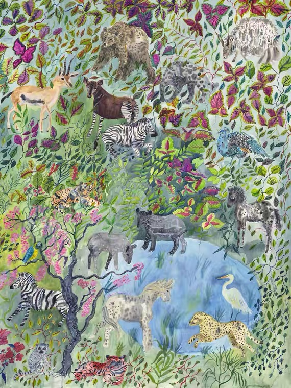 Many Animals In The Flowers And Woods