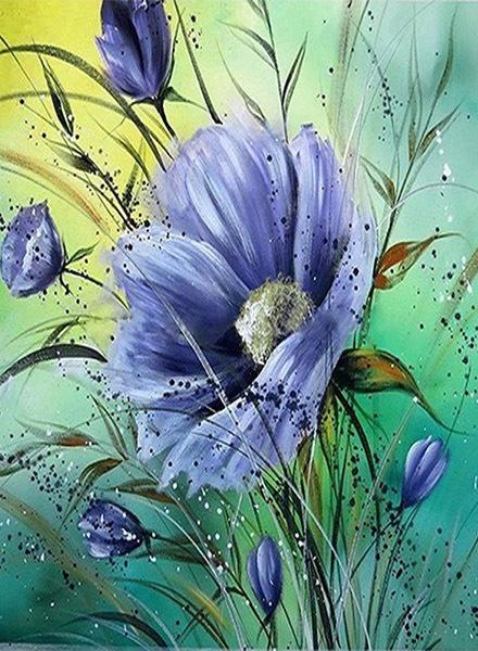 Scene Blue Flowers Beautiful Vitality