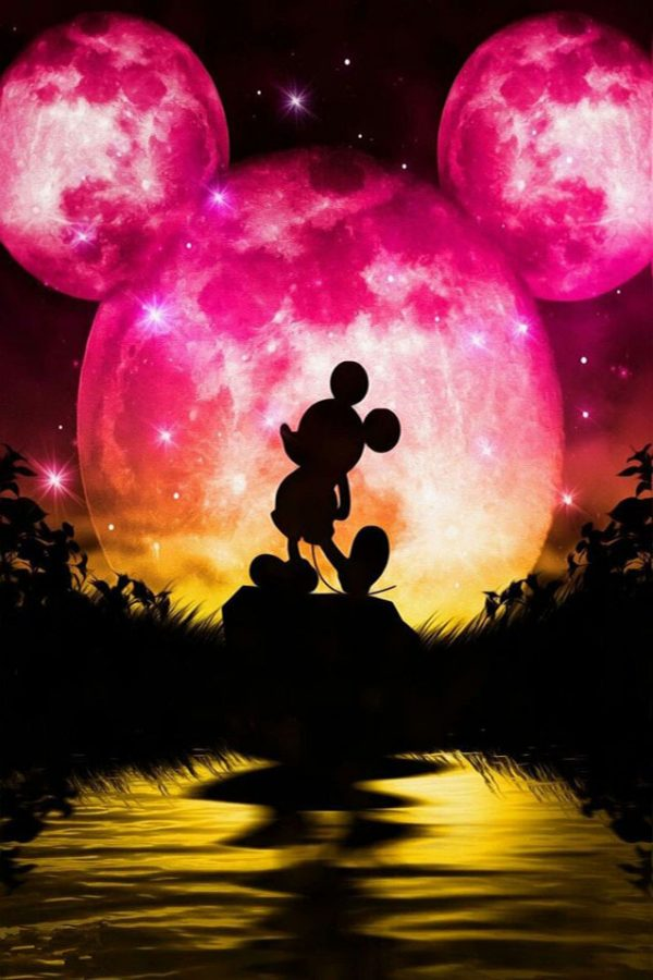 Mickey Mouse In The Moonlight Shadow