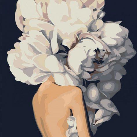 Variety Art Flower And Pretty Girl
