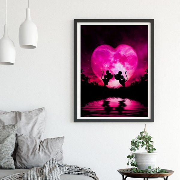 Variety Two Mickey Mouse Pink Love Light And Shadow