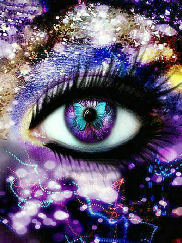 Variety Purple Rays Pretty Art Eye