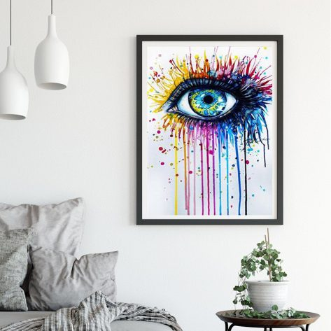 Variety Colorful Art Painting Eye