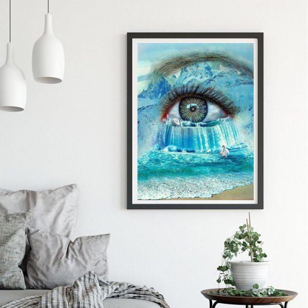 Variety Blue Lake Water Art Eye Beautiful