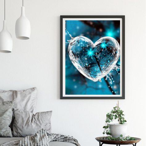 Variety Crystal Love Blue Flower Inside