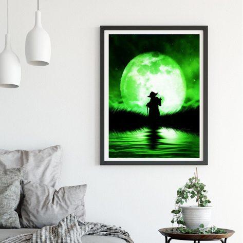 Variety Green Light Night And Lake