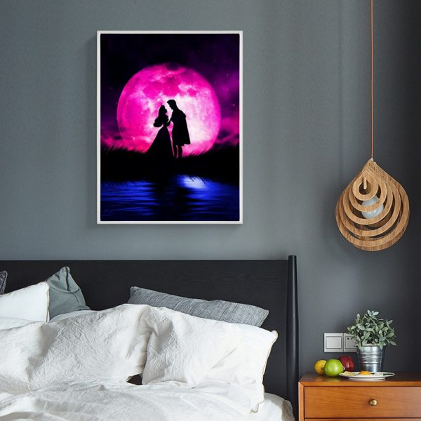 Variety Pink And Blue Moonlight And Lake Couples