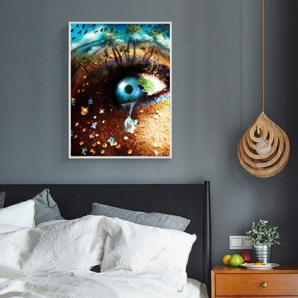 Variety Creativity Blue Eyes And Teardrop