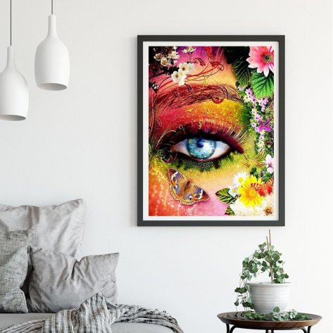 Variety Eyes In The Flowers With Butterfly For Art