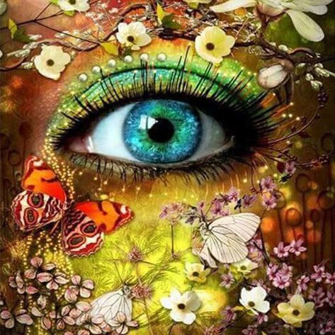 Variety Green Eyes In The Flowers Creative