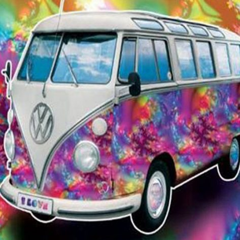 Variety Cute Bus Graffiti Many Colors