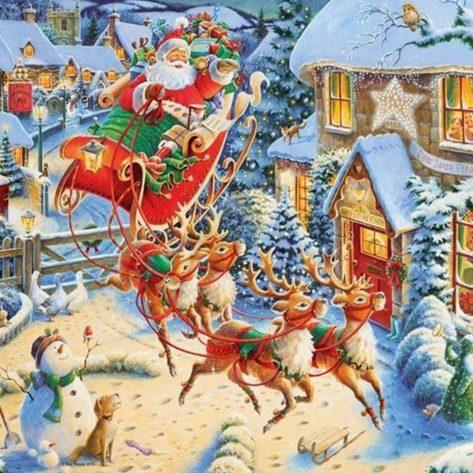Lively and vigorous Christmas