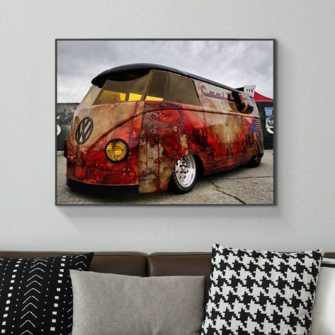 Variety Creative Cute Bus Yellow And Red Colour