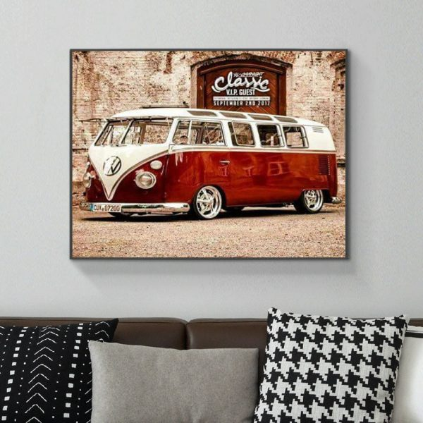 Variety Retro Bus Red Very Exquisite