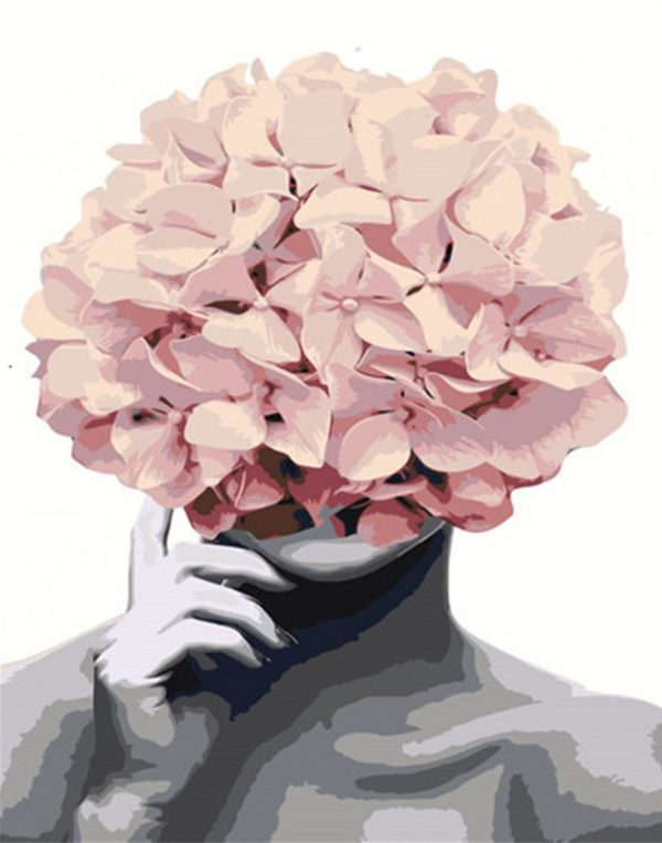 Variety Flower As Head Combine Creativity