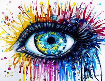 Creative Colored Artistic Eyes