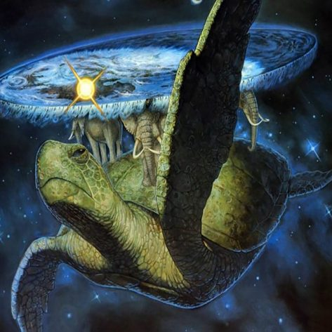 The Tortoise In The Fantasy World Carries An Elephant On Its Back