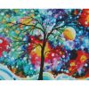 Colorful And Vivid Paintings Of Big Trees