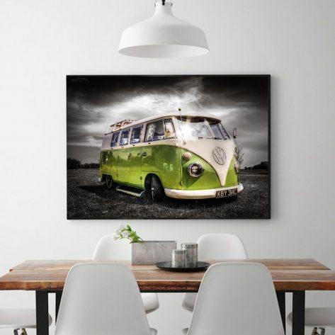 Cloudy Green Bus Diamond Painting