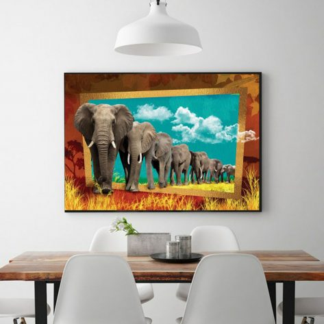 Rich Imagination-the Elephant That Came Out Of The Painting