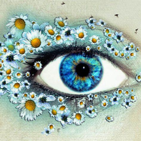 Beautiful Floral Eyeshadow For Eyes