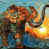 Elephant Walking In The Dusk