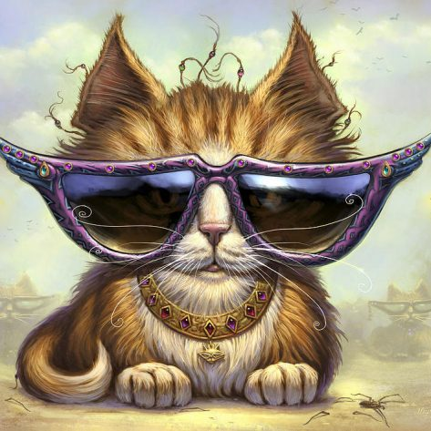 Cool And Handsome Cat Wearing Sunglasses